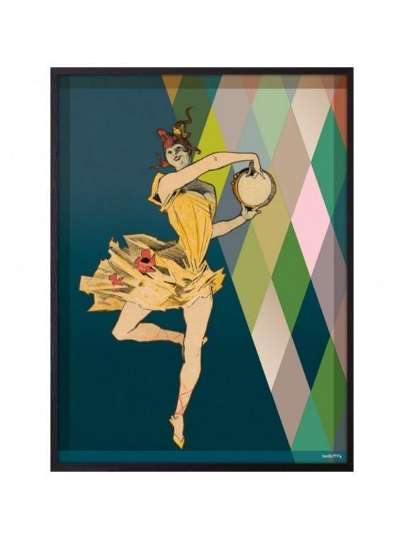 Vanilla fly poster 20 - 25 danseuse pirouette - cornice nera