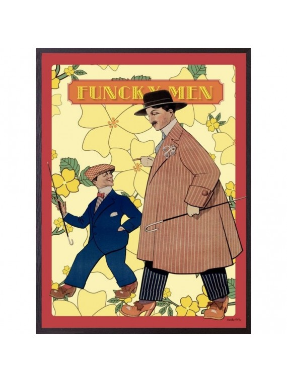 Vanilla fly poster 20 - 25 funcky men - cornice nera