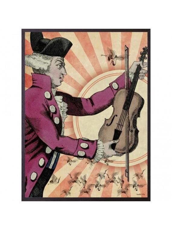 Vanilla fly poster 20 - 25 retro - cornice nera