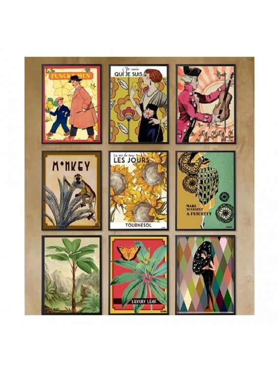 Vanilla fly poster 20 - 25 la danseuse - cornice nera