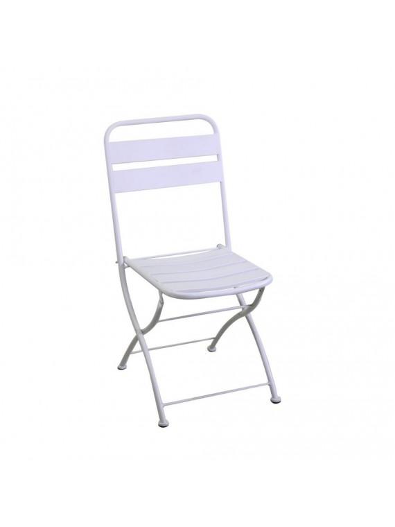 Sedia ferro rovigo pieghevole bianco cm42x50h85