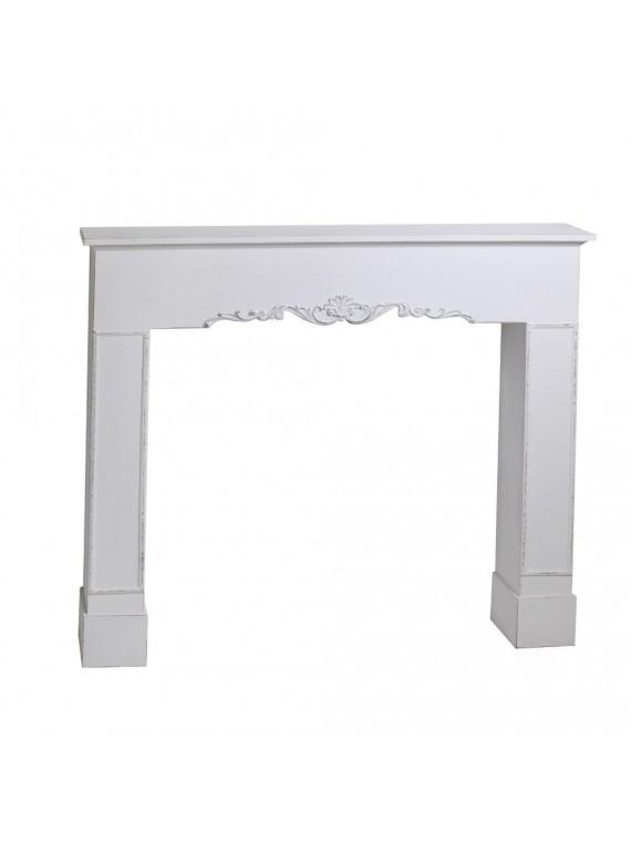 Camino legno bianco cm114x20h84/102