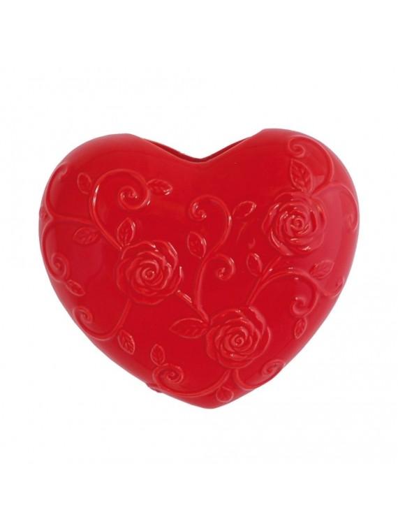 Cuore Rosso In Porcellana Cm 15X17 In Gift Box