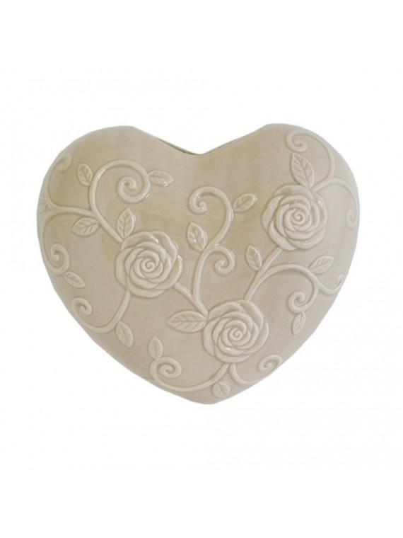 Cuore Tortora In Porcellana Cm 15X17 In Gift Box