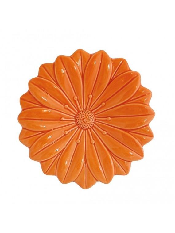 Fiore Arancio In Porcellana Cm 17 5X17 5 In Gift Box