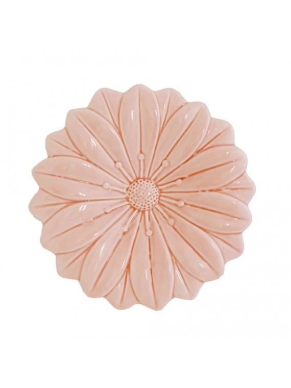 Fiore Rosa In Porcellana Cm 17 5X17 5 In Gift Box