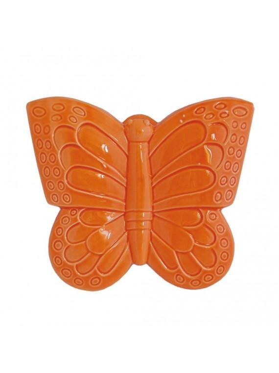 Farfalla Arancio In Porcellana Cm 16X18 In Gift Box