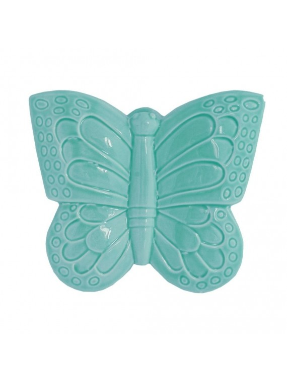 Farfalla Azzurra In Porcellana Cm 16X18 In Gift Box
