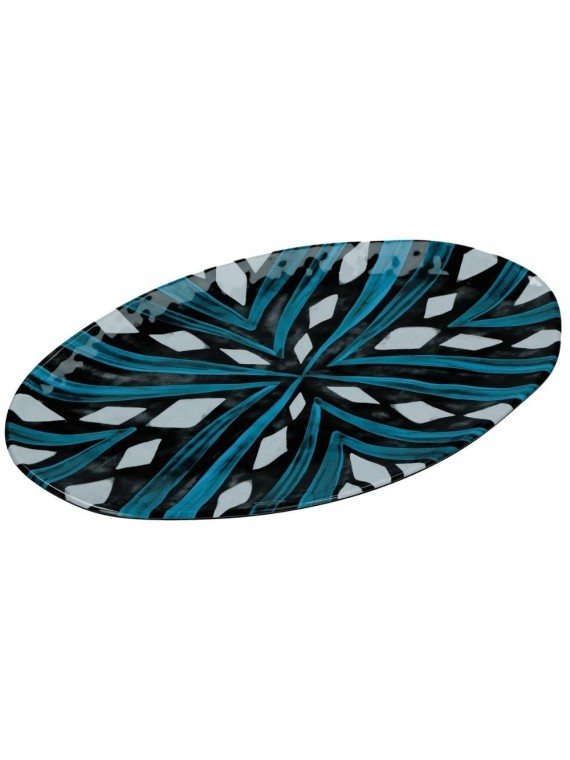 Noir vassoio ovale melamina 52x30cm