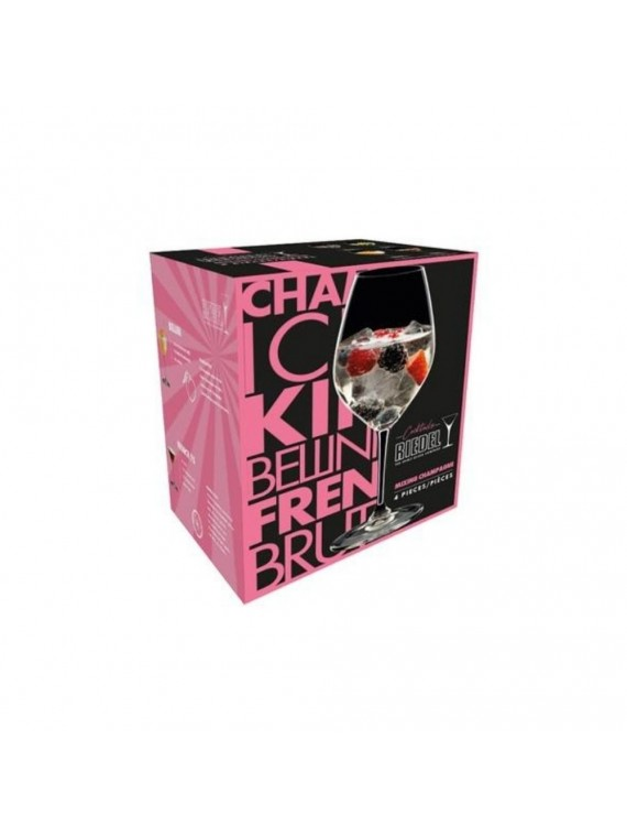 Riedel mixing bellini champagne set 4pz