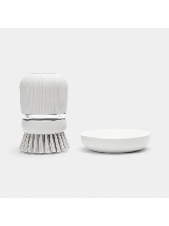 Brabantia Spazzola per piatti con dispenser sapone - Light Grey