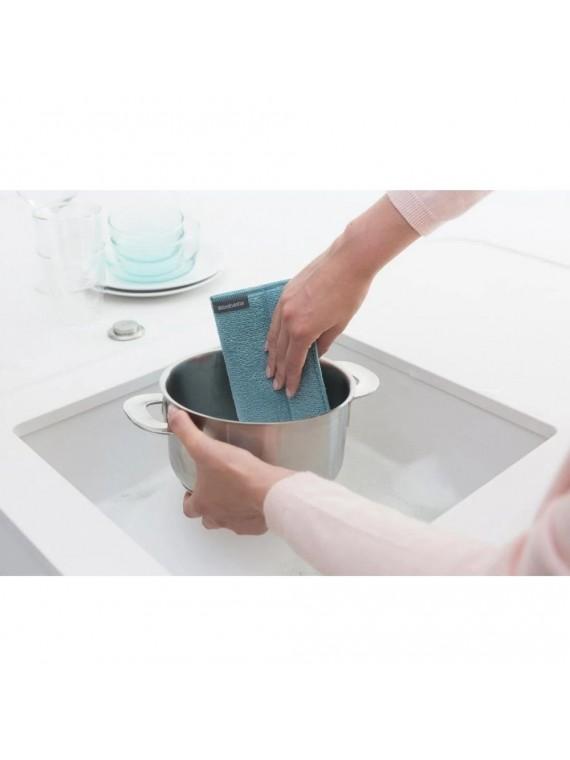 Brabantia 3 panni per pulizia in microfibra - Mint