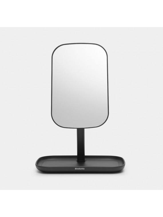 Brabantia Specchio con vassoio portaoggetti - Dark Grey