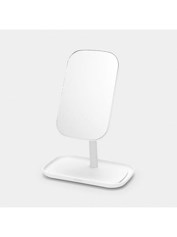 Brabantia Specchio con vassoio portaoggetti - White