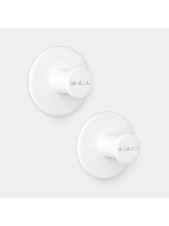 Brabantia ReNew Set 2 ganci portaasciugamani - White