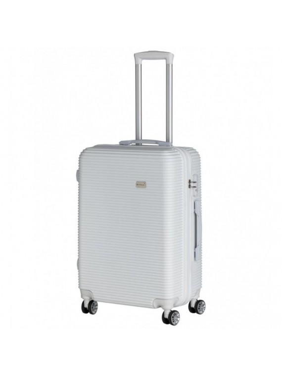 Brandani valigia bianco set con chiusura set 2 pz abs