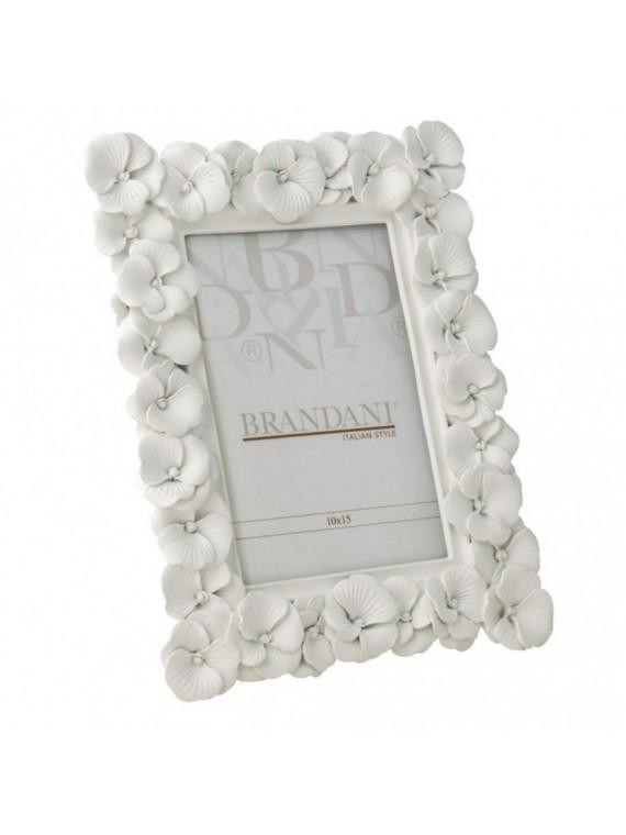 Brandani portafoto primula bianco poliresina 10 15