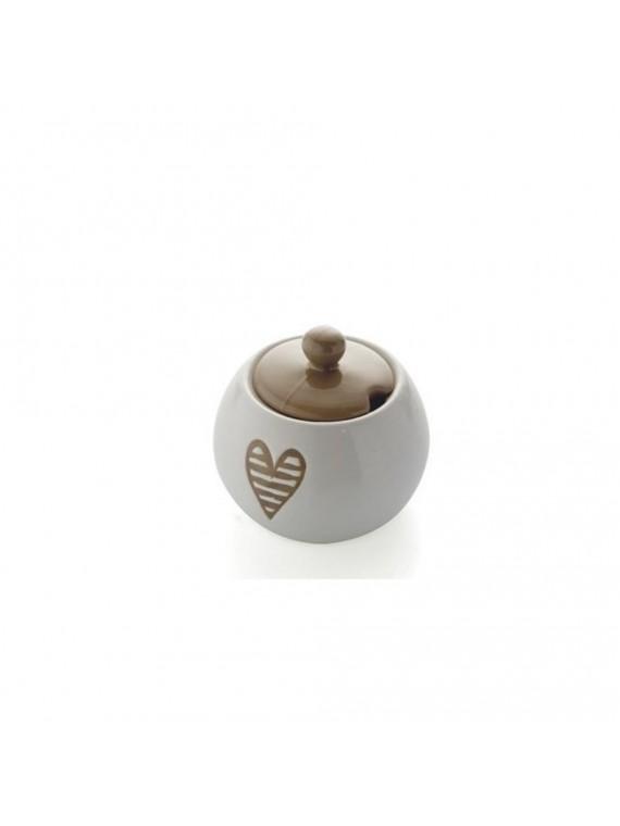 Brandani zuccheriera batticuore tortora stoneware
