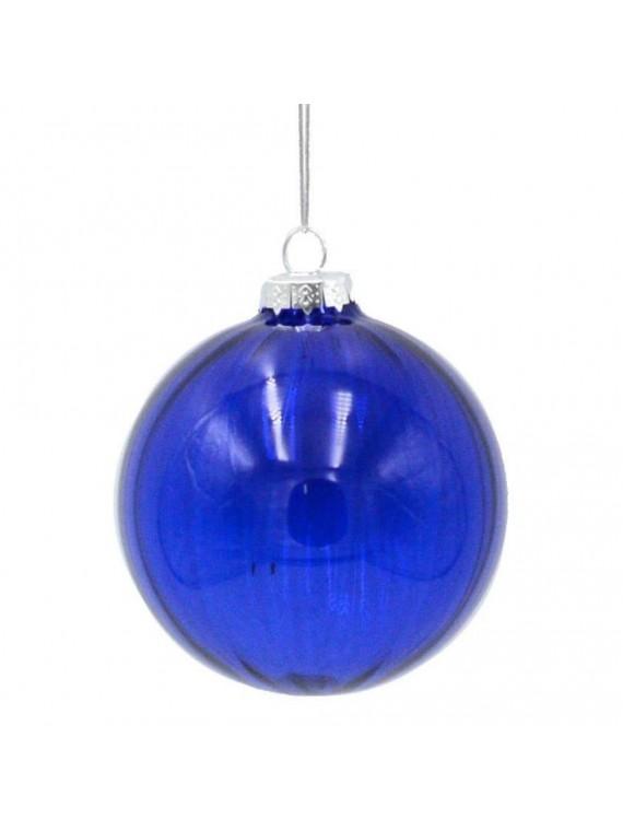 Sfera vetro blu cm d8
