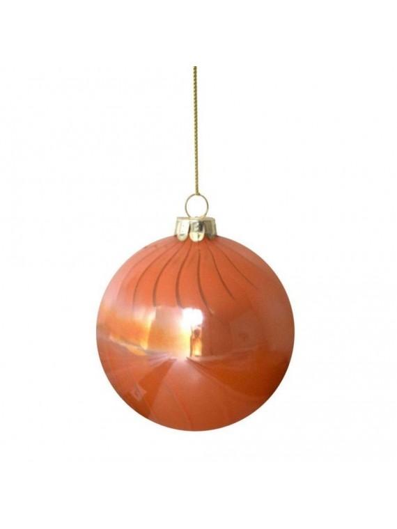 Sfera vetro arancione cm d8