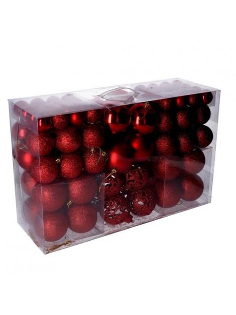Sfera plastica confezione 100 pezzi rosso cm d4 6 8