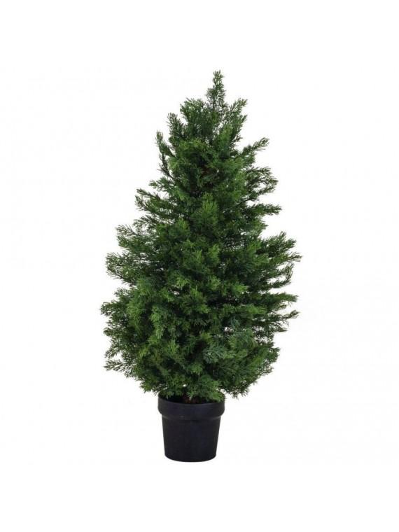 Albero bisalta verde cm d16 h90 pvc con 169 rami