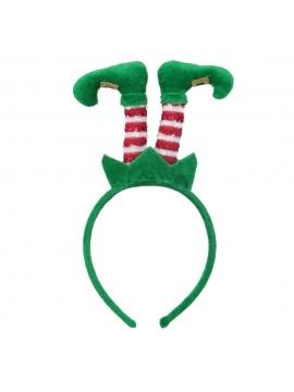 Cerchietto tessuto piedi elfo verde cm25x10x2