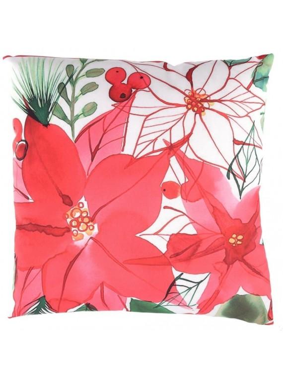 Cuscino tessuto fiori quadro cm 45 x 45 h12