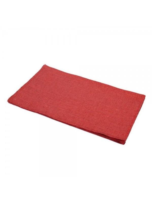 Tovaglietta tessuto rosso rettangolare cm 45 x h30 x 0 2
