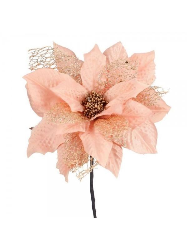 Fiore stella natale rosa chiaro cm d17 x 25