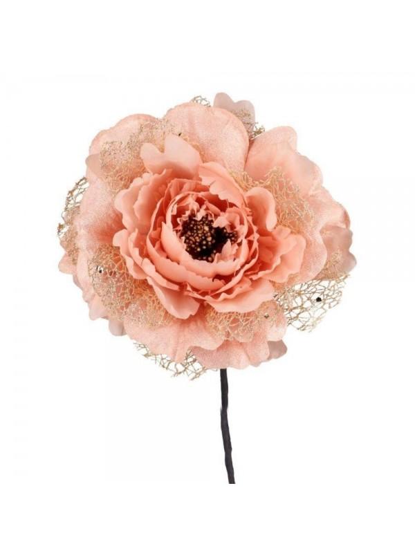 Fiore peonia rosa cm d11 x 18