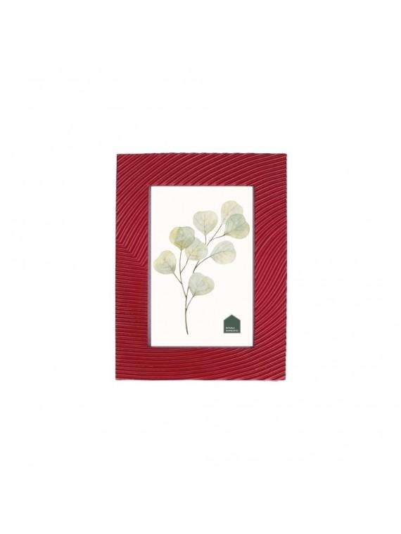 Portafoto Solchi Rosso In Resina Per Foto 10X15 Cm