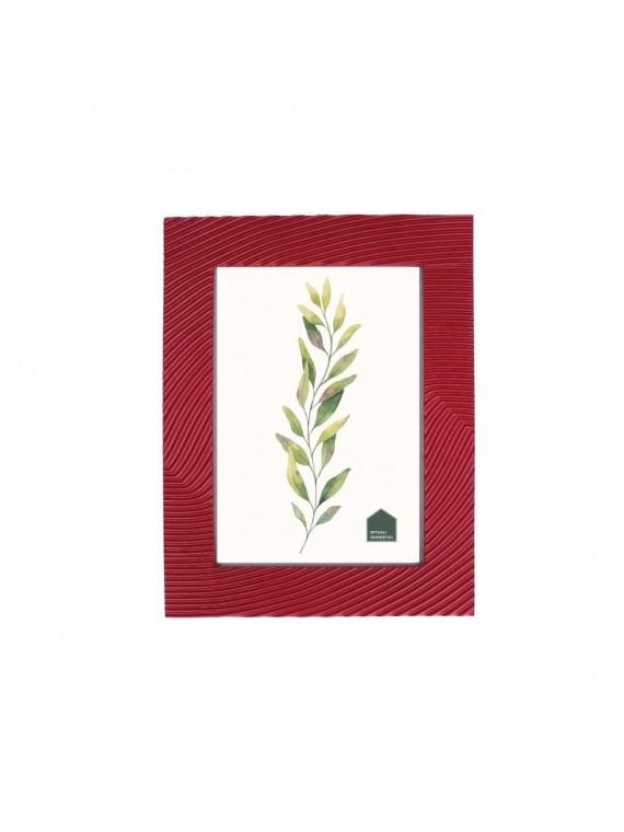 Portafoto Solchi Rosso In Resina Per Foto 13X18 Cm