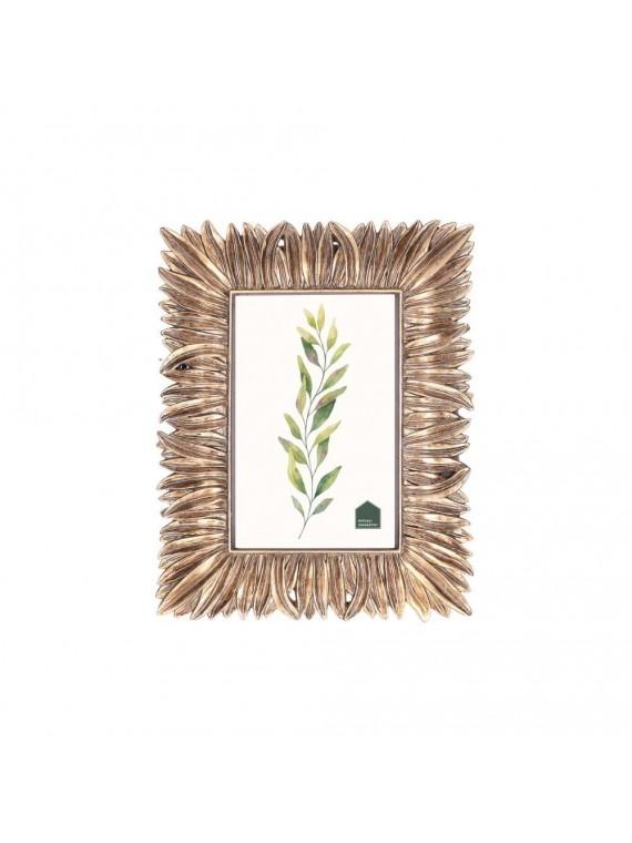 Portafoto Lunghefoglie Oro In Resina Per Foto 13X18 cm