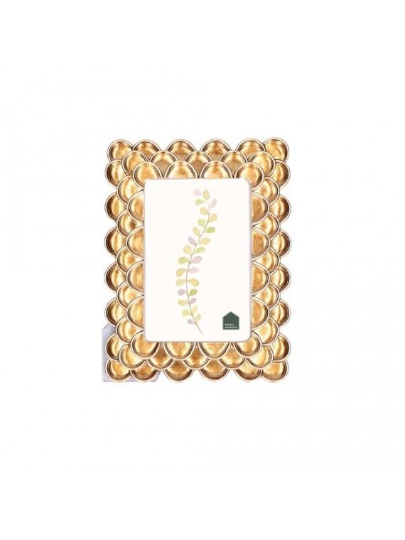 Portafoto Capsule Oro In Resina Per Foto 10X15 Cm