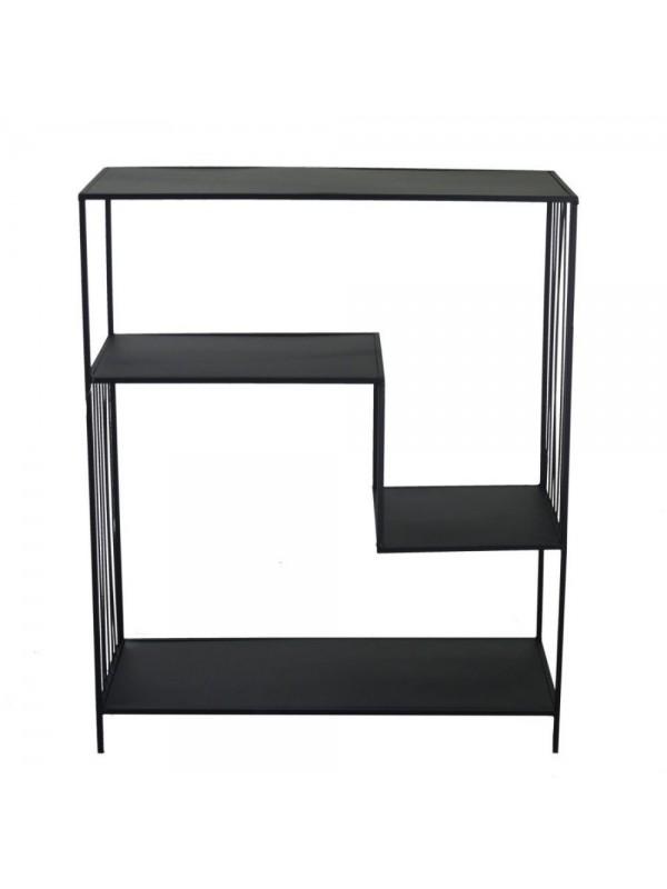 Scaffale metallo nero 3 piani cm 80 x 35 h97