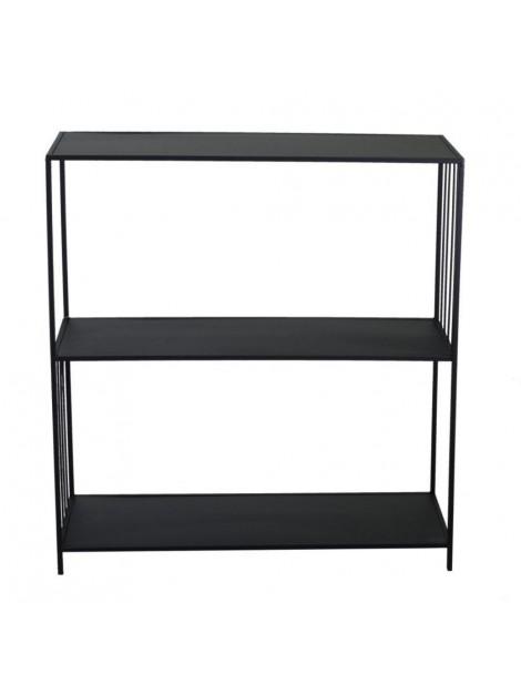 Scaffale metallo nero 3 piani cm 80 x 30 h80-85