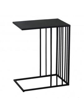 Tavolino metallo nero rettangolare cm 45 x 30 h57