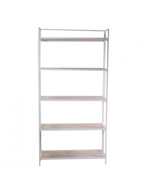 Scaffale metallo Lucilla 5 piani bianco cm 85 5 x 34 5 h160-171