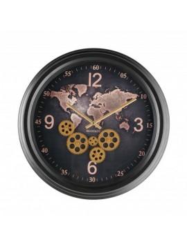 Brandani orologio mondo meccanismo a vista metal