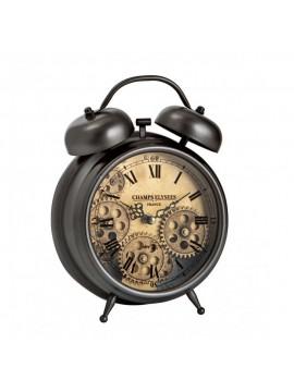 Brandani orologio da tavolo con meccanismo a vista metallo vetro
