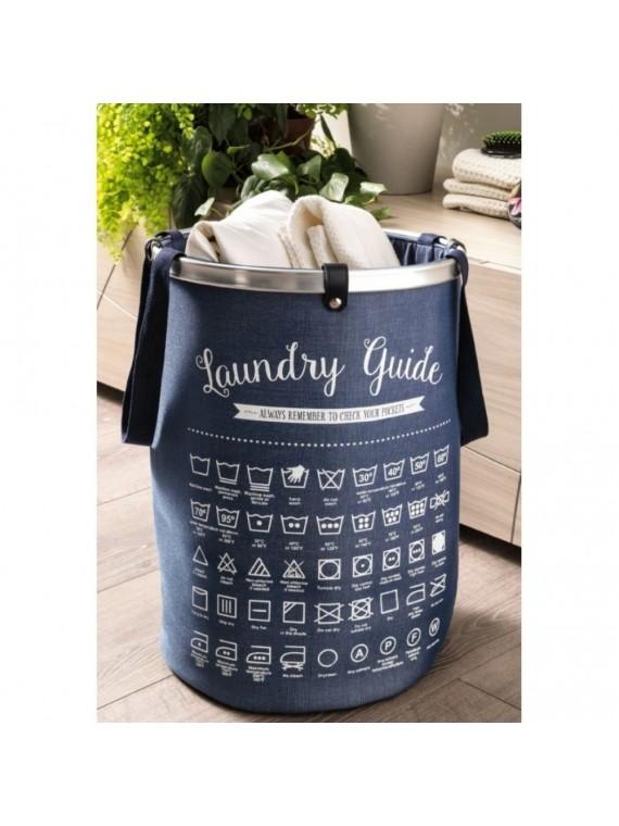 Brandani laundry bag blu bianco poliestere