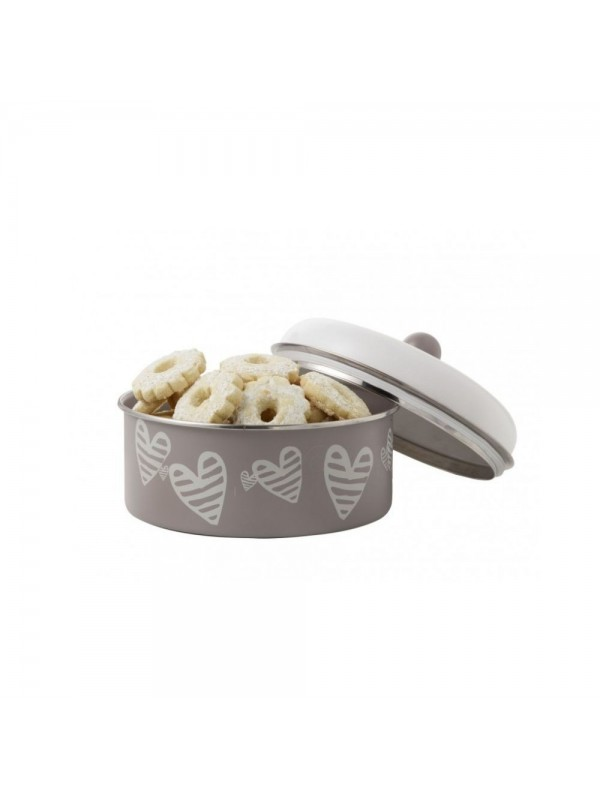 Brandani scatola batticuore tortora metal