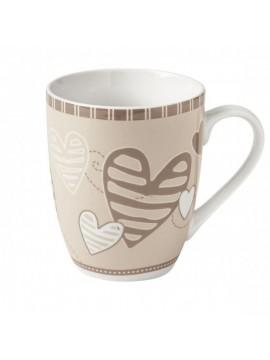 Brandani mug batticuore set 2 pezzi porcellana