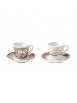 Brandani tazzina caffe batticuore set 2 pezzi porcellana 1