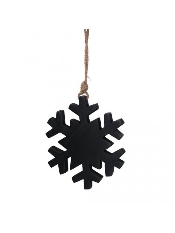 Fiocco di neve legno nero cm14 5x17 5/34x1 5