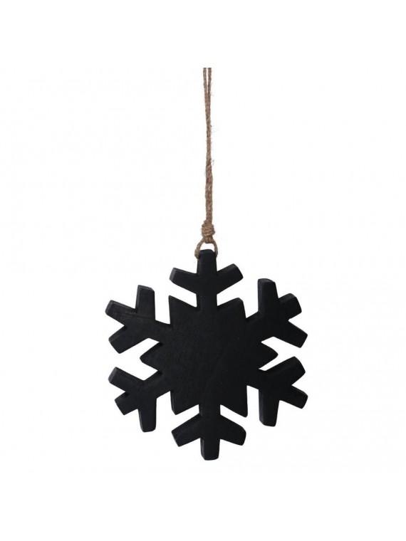 Fiocco di neve legno nero cm20x22/42x3