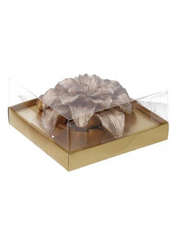 Candela fiore oro cm10h3 5