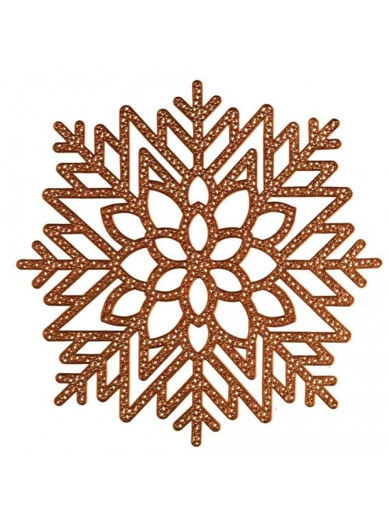 Tovaglietta plastica fiocco di neve oro cm 41x41