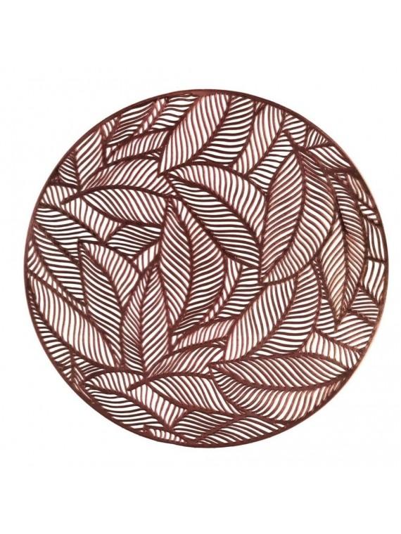Tovaglietta plastica foglie rame tondo cm diam 38